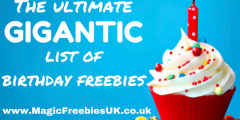 Birthday Freebies: The Ultimate List of Everything You Can Get for Free! (for Sep 2019)