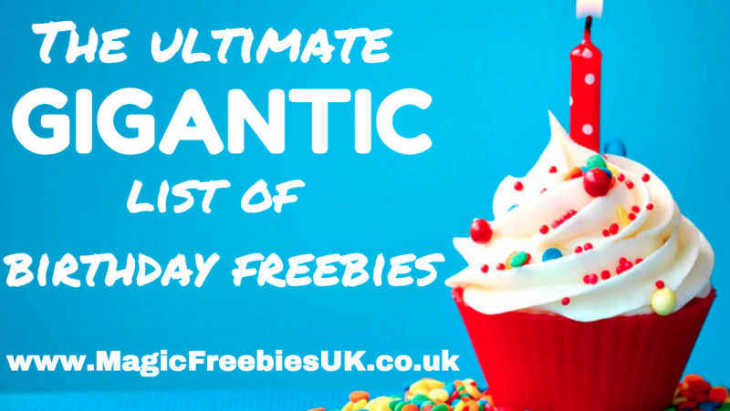 birthday freebies the ultimate gigantic list of birthday freebies