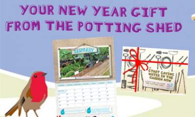 Free Potting Shed Calendar & Water Saving Kit