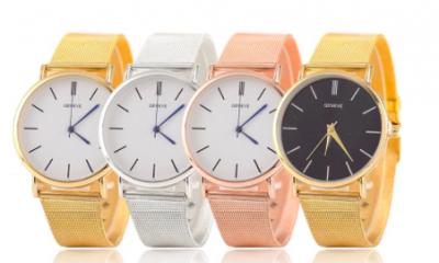 Free Unisex Geneve Mesh Quartz Watch - 4 styles