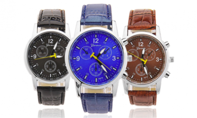 Free Gents Geneve Watch - 3 Styles