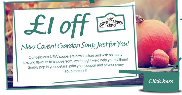 free Covent Garden Soup coupon