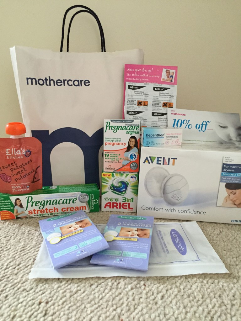 free mothercare goody bag