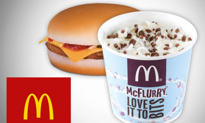 Free McDonalds McFlurry, Cheeseburger or Mayo Chicken