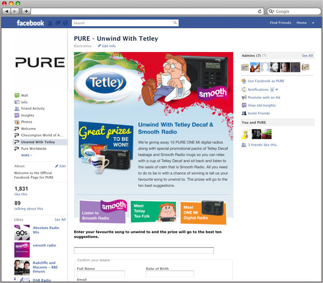 free facebook competitions
