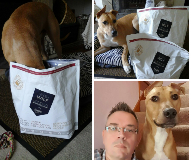 Freebie finder Paul, his dog Wilf and his free dog food