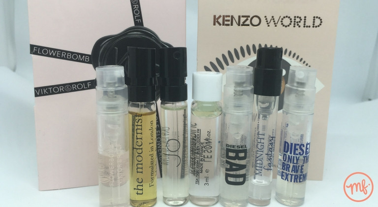 Collection of 7 perfume samples