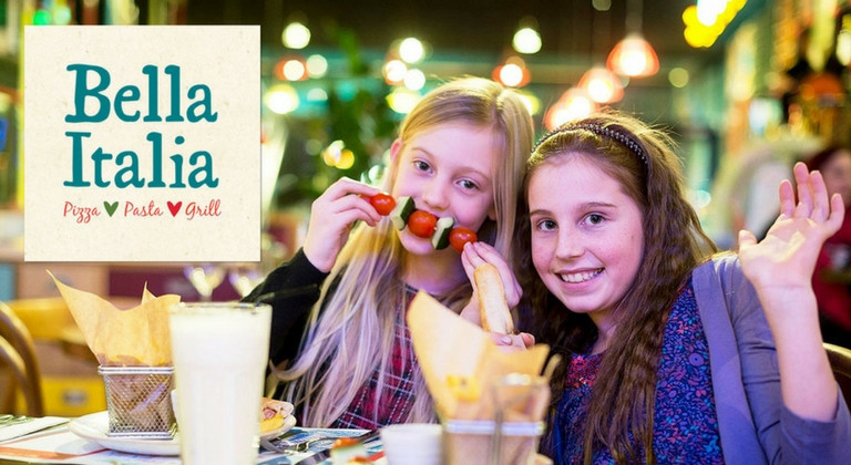 Two young girls at Bella Italia