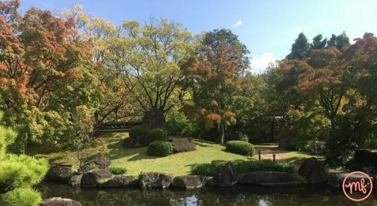 Koko-En Garden in Japan on a sunny day