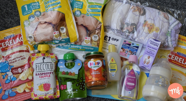 Free stuff for babies, free baby food, free baby bath products, free nappies, free milk bottle
