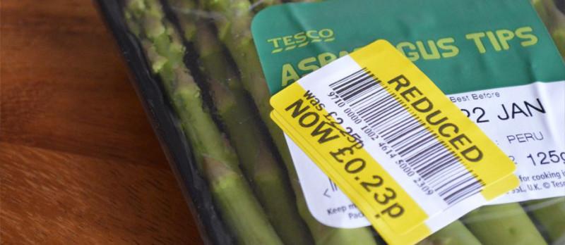Tesco asparagus reduced to 23p
