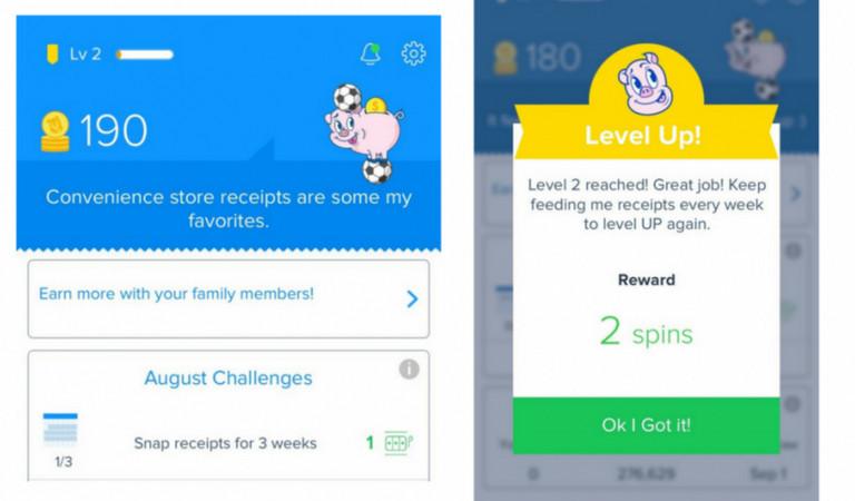 Screenshot of Receipt Hog rewards page
