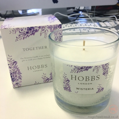 Birthday candle freebie from Hobbs
