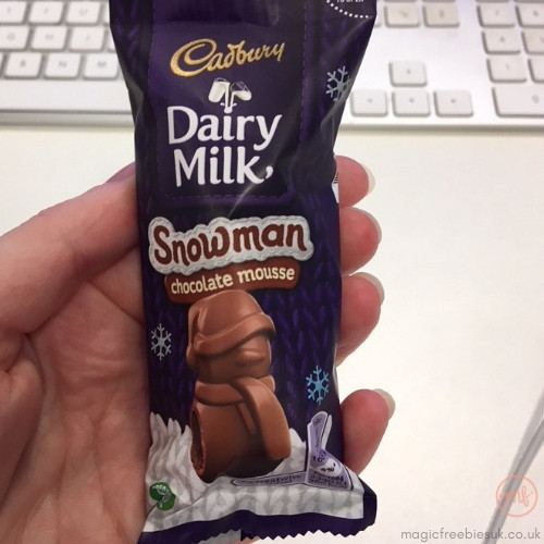Free Cadbury Chocolate Snowman