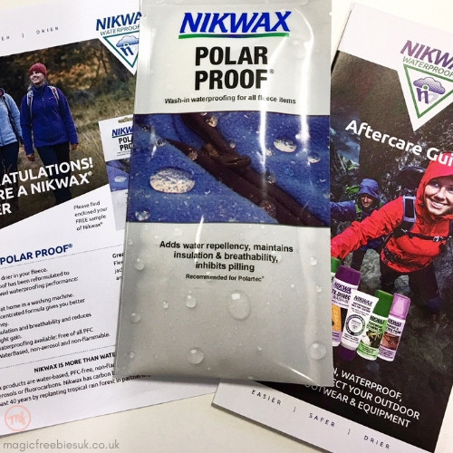 Nikwax Polar Proof freebie