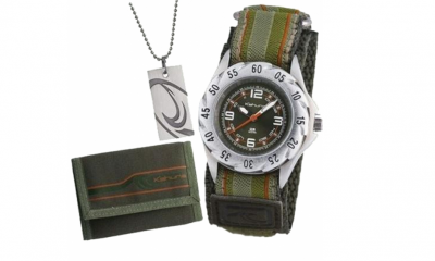 Free Boys Kahuna Wallet Gift Set Watch