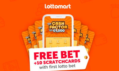 1 Free Lotto Bet & 10 Free £1,000 Scratchcards