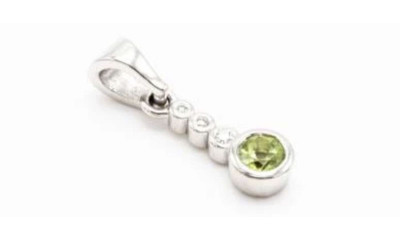 Win a Diamond & White Gold Peridot Pendant (worth £535)