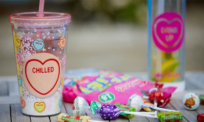 Free Love Hearts Water Bottle