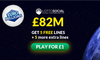 £82M Euromillions Jackpot - 10 Tickets for £1