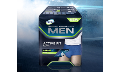 Get a free sample of TENA Men Active Fit Pants