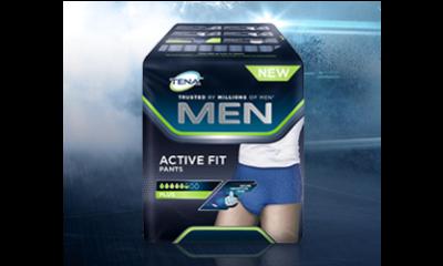 Get a free sample of TENA Men Active Fit Pants