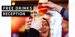 Christmas: Free Drinks Reception for Group Bookings