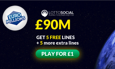 £90M Euromillions Jackpot - 10 Tickets for £1