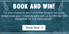 Book & Win a £50 Amazon Voucher