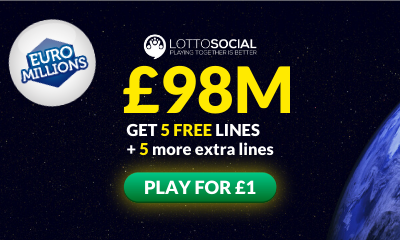 £98M Euromillions Jackpot - 10 Tickets for £1