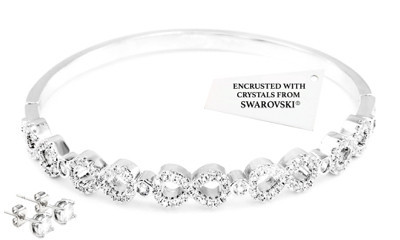 Free Infinity Bangle & Earrings Set