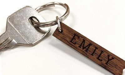 Free Personalised Engraved Key Ring Worth £6.95
