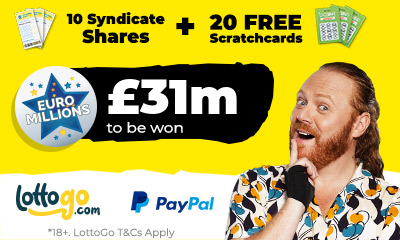 £31M Euromillions - 10 Free Syndicate Tickets