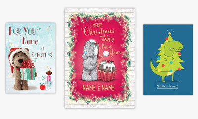 2 Free Personalised Christmas Cards