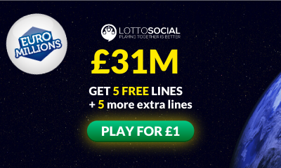 £31M Euromillions Jackpot - 10 Tickets for £1
