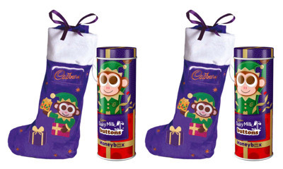 Free Cadbury Chocolate Stocking & Dairy Milk Buttons Tin