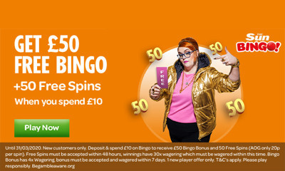 Free £50 of Bingo with Sun Bingo