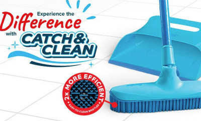 Win a Spontex Catch & Clean Rubber Broom and Dustpan Set