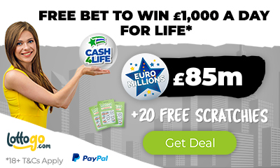£85M EuroMillions Jackpot! Get 20 Free £500 Prize Scratchcards