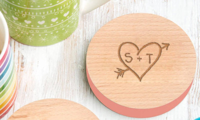 Free Personalised Wooden Coasters