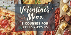 Valentines: 3-Course Set Menu for £21.95