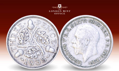 Free King George V Silver Threepence