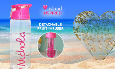 Free ❤ Island Water Bottle