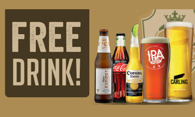 Free Pint of Beer, Corona & More