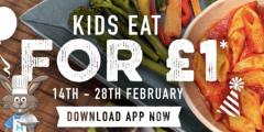 Half Term: £1 Kids' Meals