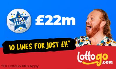 £22M Euromillions Jackpot - 10 Lines for £1