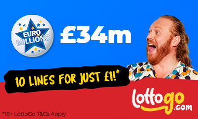 £34M Euromillions Jackpot - 10 Lines for £1