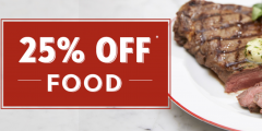 25% Off Food Every Day