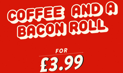 Coffee & a Bacon Roll for £3.99