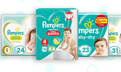 Free Packs of Pampers Nappies